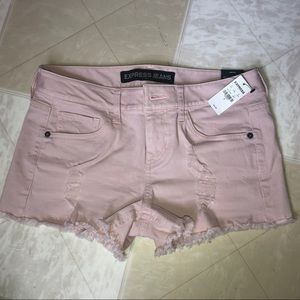 Baby pink Express shorts size 0
